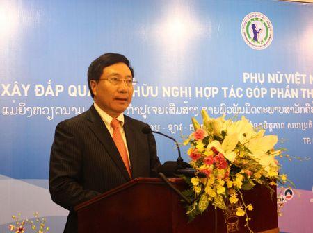 Phu nu Viet Nam, Lao, Campuchia no luc thuc hien muc tieu phat trien ben vung - Anh 1