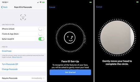 Cach khai bao Face ID cho Apple Pay tren iPhone X - Anh 2