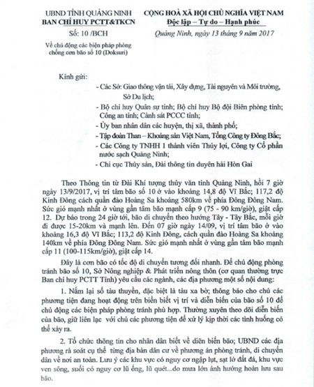 Bao so 10: Quang Ninh ra cong dien khan, cam tau thuyen ra khoi - Anh 2