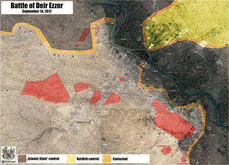 Quan doi Syria, nguoi Kurd dua tan cong IS chiem lanh dia tai Deir Ezzor - Anh 1