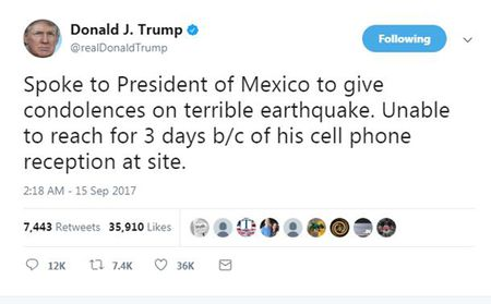 Trump phan tran cham hoi tham Mexico do song dien thoai yeu - Anh 1