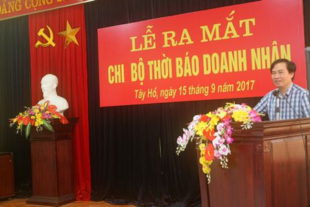 Cong bo Quyet dinh thanh lap Chi bo Thoi bao Doanh nhan - Anh 2