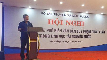 Bo TN&MT: Trien khai Nghi dinh ve cap quyen khai thac TNN tai mien Trung - Anh 1