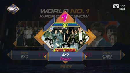 EXO la nhom nhac dau tien dat so diem tuyet doi tren M!Countdown - Anh 1