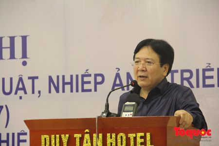 Thu truong Vuong Duy Bien du Hoi nghi tong ket cong tac quan ly my thuat, nhiep anh va trien lam - Anh 1