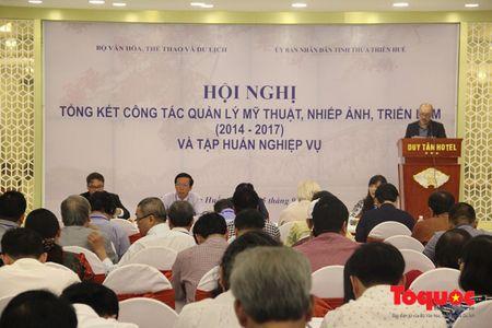 Thu truong Vuong Duy Bien du Hoi nghi tong ket cong tac quan ly my thuat, nhiep anh va trien lam - Anh 2