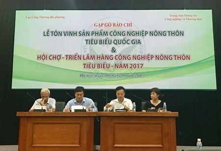 Sap dien ra Hoi cho-Trien lam hang cong nghiep nong thon tieu bieu nam 2017 - Anh 1