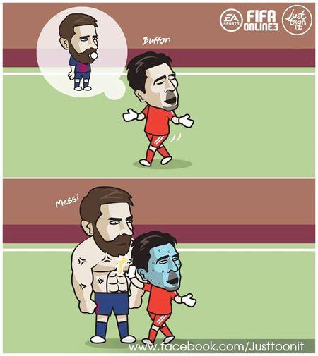 Hi hoa Buffon so xanh mat khi gap 'nguoi khong lo' Messi - Anh 4
