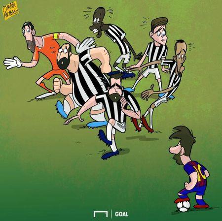 Hi hoa Buffon so xanh mat khi gap 'nguoi khong lo' Messi - Anh 5