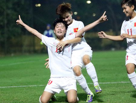U19 nu Viet Nam hoi quan du giai chau A - Anh 1