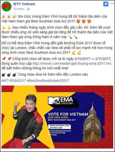 Dam Vinh Hung chinh thuc dai dien Viet Nam tranh tai tai MTV EMA - Anh 1