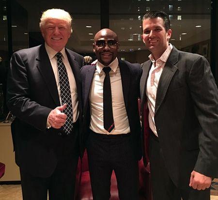 Mayweather dong quan diem voi Trump ve phu nu - Anh 1