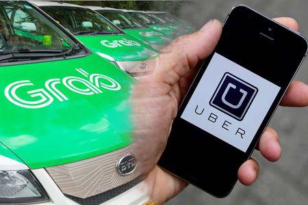 Tai xe Grab, Uber o TP. HCM bi phat hon 600 trieu dong - Anh 1