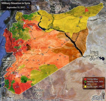 Syria: Dua chiem Deir Ezzor, nguoi Kurd cham ngoi cuoc chien voi Assad (video) - Anh 1