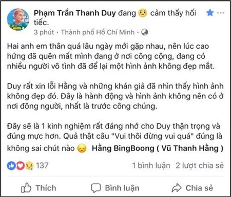 Thanh Duy chinh thuc len tieng ve tro dua vo duyen voi dong nghiep nu - Anh 3