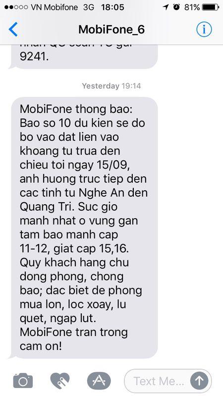 MobiFone nhan tin canh bao bao cho nguoi dan vung tam bao Doksuri - Anh 1
