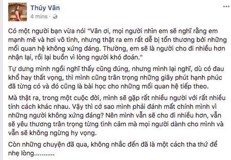 Thuy Van lan dau len tieng sau khi chia tay ban trai dai gia, am chi nguoi cu khong xung dang? - Anh 1