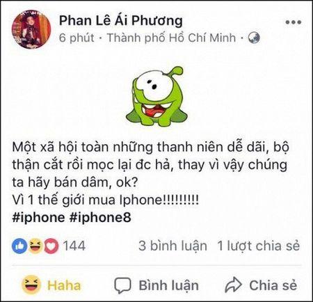 Ca si Ai Phuong xin loi sau su co ru moi nguoi... ban dam de mua iPhone X - Anh 1