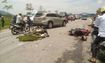 Xe máy đối đầu trên quốc lộ, 2 người thương vong