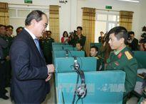 Đồng chí Nguyễn Thiện Nhân chúc mừng Trường sỹ quan đặc công