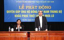 BẢN TIN MẶT TRẬN: Đoàn Chủ tịch UBTƯ MTTQ Việt Nam kêu gọi ủng hộ đồng bào bị lũ lụt