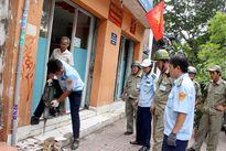 Phường Phạm Ngũ Lão dỡ bậc thềm trụ sở bảo vệ dân phố