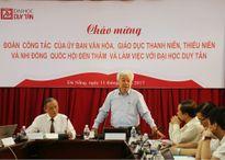 Ủy ban Văn hóa, Giáo dục, Thanh niên, Thiếu niên và Nhi đồng của Quốc hội thăm ĐH Duy Tân