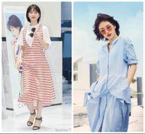 Học Suzy mix trang phục kẻ cực trẻ trung và quyến rũ