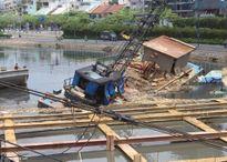 Chìm sà lan tại dự án chống ngập 10.000 tỷ ở TP.HCM