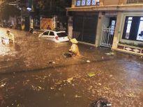 Cơn mưa làm ngập đường Hà Nội tối nay lớn thế nào?