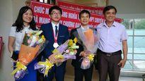 Nghệ An đón học sinh đạt Huy chương Bạc Olympic Hóa Học