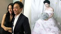 Hạ Vi diện váy cưới sau khi chia tay Cường Đô la