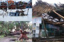 Bão số 2 đổ bộ vào Nghệ An, Hà Tĩnh: Người chết, cây đổ, nhà sập