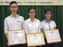 Cà Mau: Tuyên dương học sinh đạt thành tích cao trong kỳ thi THPT quốc gia 2017