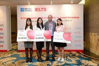 3 học sinh Việt Nam giành giải thưởng British Council IELTS 2017
