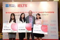 Ba học sinh Việt Nam giành giải thưởng British Council IELTS 2017