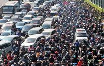 Không để thời gian kẹt xe kéo dài tại TP.HCM và Hà Nội Không để ùn tắc giao thông trên 30 phút. Ảnh minh họa
