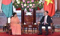 Chủ tịch nước Trần Đại Quang tiếp Chủ tịch Quốc hội Băng-la-đét S.Chao-đu-ri
