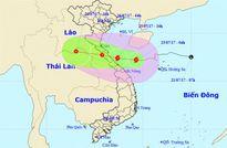 Tối nay (25/7), bão số 4 đi vào Hà Tĩnh - Quảng Trị