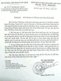 Bộ Văn hóa - Thể thao & Du lịch lên tiếng vụ san phẳng mộ vợ vua Nguyễn