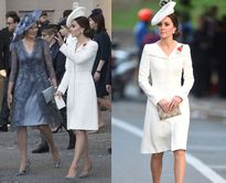 Công nương Kate diện váy cũ vẫn đẹp rạng ngời bên cạnh Hoàng hậu Bỉ