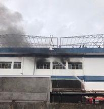 Cháy tại khu công nghiệp Quế Võ
