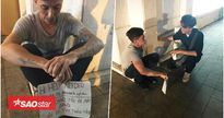 Một người nước ngoài xin giúp đỡ vì mất hết tài sản ở Sài Gòn