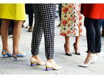 Xu hướng giày 'kitten heel' ngọt ngào trở lại