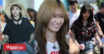 TWICE rạng rỡ tại sân bay Đà Nẵng trong vòng vây người hâm mộ