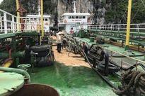 Vỡ đường ống, 200 lít dầu tràn ra vịnh Hạ Long