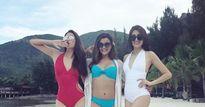 Hoa hậu Phạm Hương, Lệ Hằng và Clarissa Molina tận hưởng vẻ đẹp của bãi biển Nha Trang
