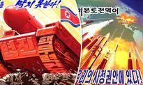 Tranh cổ động Triều Tiên: Mỹ nổ tung trong hỏa tiễn