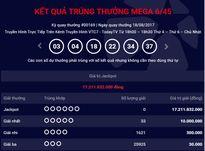 Kết quả xổ số điện toán Vietlott ngày 18/8: Giải Jackpot hơn 17 tỷ đồng vô chủ