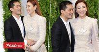Ngân Khánh cùng ông xã 'tay trong tay', vui vẻ đến chúc mừng bạn thân Lê Phương